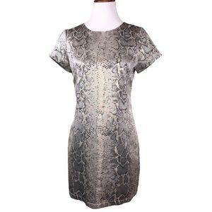 Sanctuary Metallic Snake Print Shift Dress